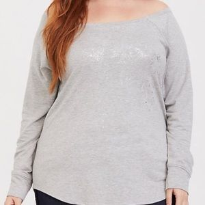 Torrid Grey Long-Sleeved Top size 3X
